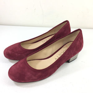 Sole Society 75 Burgundy Red Suede Low Heels